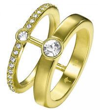 Joop! Ring Delikate JPRG00003B180 Edelstahl gold plattiert Gr. 18 weiße Steine