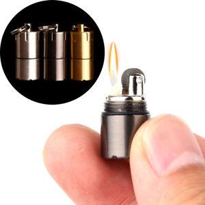 Cylinder-meta-keychain-mini-fire-flint-wick-kerosene-pipe-cigarette-lighter-XJ