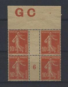 France-Yvert-n-138-Bloc-de-4-millesime-6-neuf-sans-gomme-GC