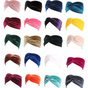 Donna-Elastico-Twist-Turbante-Fascia-Capelli-Largo-Accessori-per