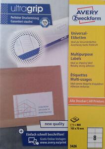 AVERY Zweckform 3426 Etiketten ultragrip 105 x 77 mm weiß, Menge nach Auswahl