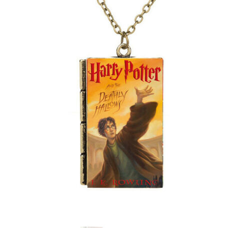 Miniature Harry Potter and the Deathly Hallows TINY Book Pendant Necklace