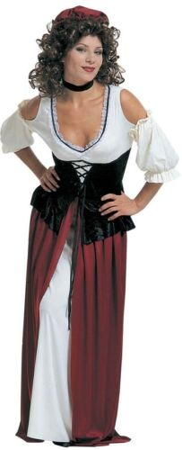 Tavern Wench Medieval Maid Victorian Middle Ages Ladies Fancy Dress Costume