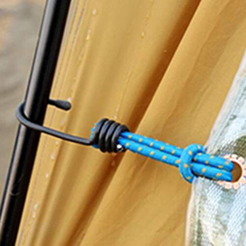 5 Pcs Bungee Cord Elastic Stretch Straps with Hook Canopy Tarp Tie Downs