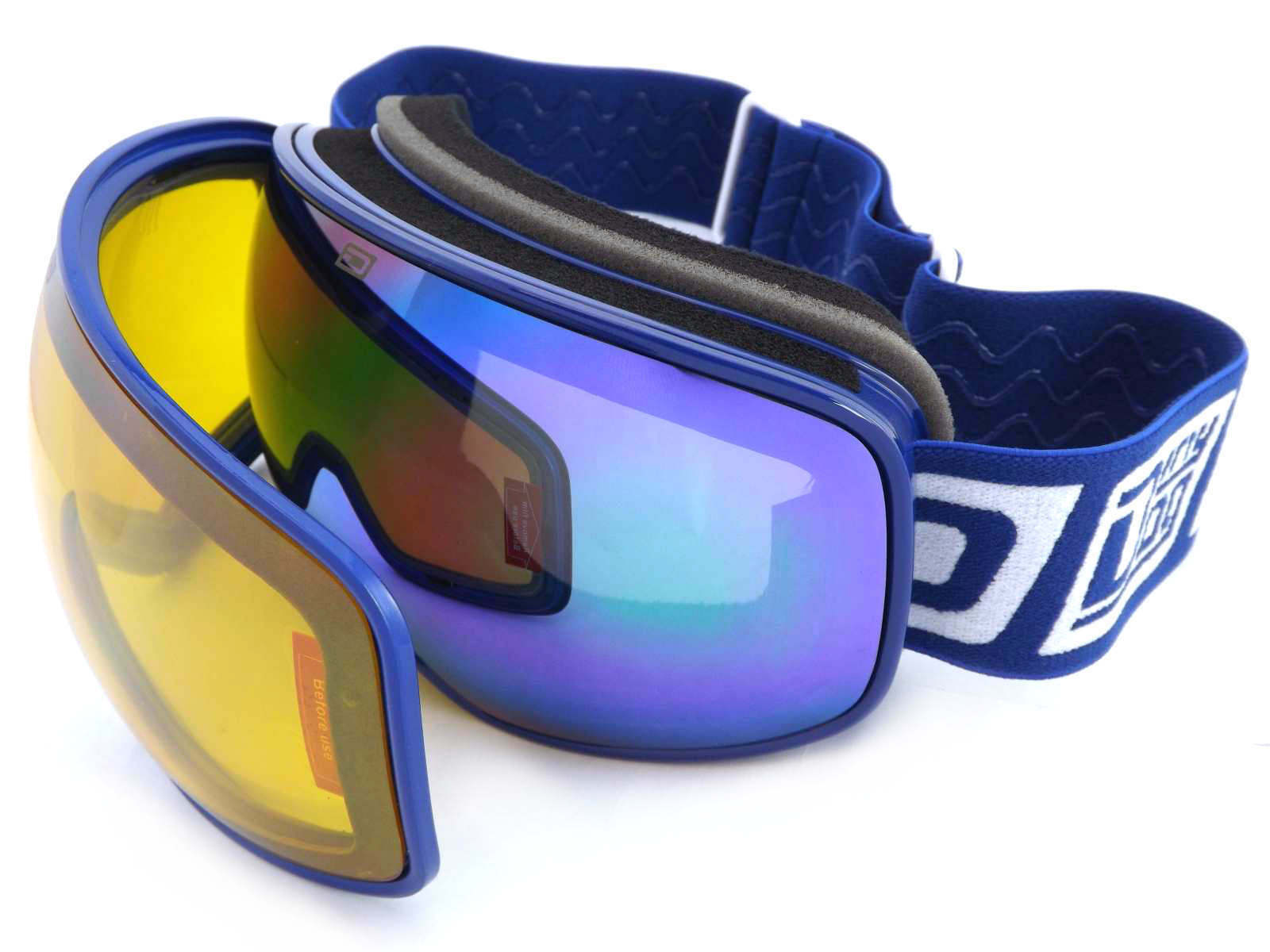 DIRTY DOG Small Fit Magnetic Lens Change Mutant 0.5 Ski Goggles Navy bluee 54192