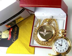 PARAS-Parachute-Regiment-Gold-Pocket-Watch-Paratrooper-British-Army-Gift-Box