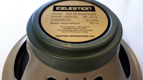 Celestion Greenback G12M 12in Speaker T1221B 16 Ohm Made in England UK