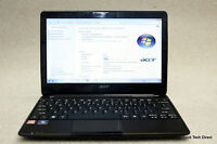 Acer Aspire One A0722 Laptop Netbook AMD C60 1.0Ghz 250GB HHD 2GB RAM Windows 7