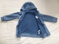 George Boys Girls Unisex Blue Long Sleeve Hooded Jacket Size 9-12 Months