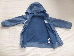 George-Boys-Girls-Unisex-Blue-Long-Sleeve-Hooded-Jacket-Size-9-12-Months