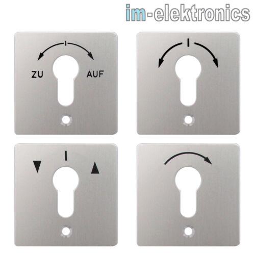 MR 1T 2T MS-APZ Alu Abdeckung f geba Schlüsselschalter Schlüsseltaster M-APZ