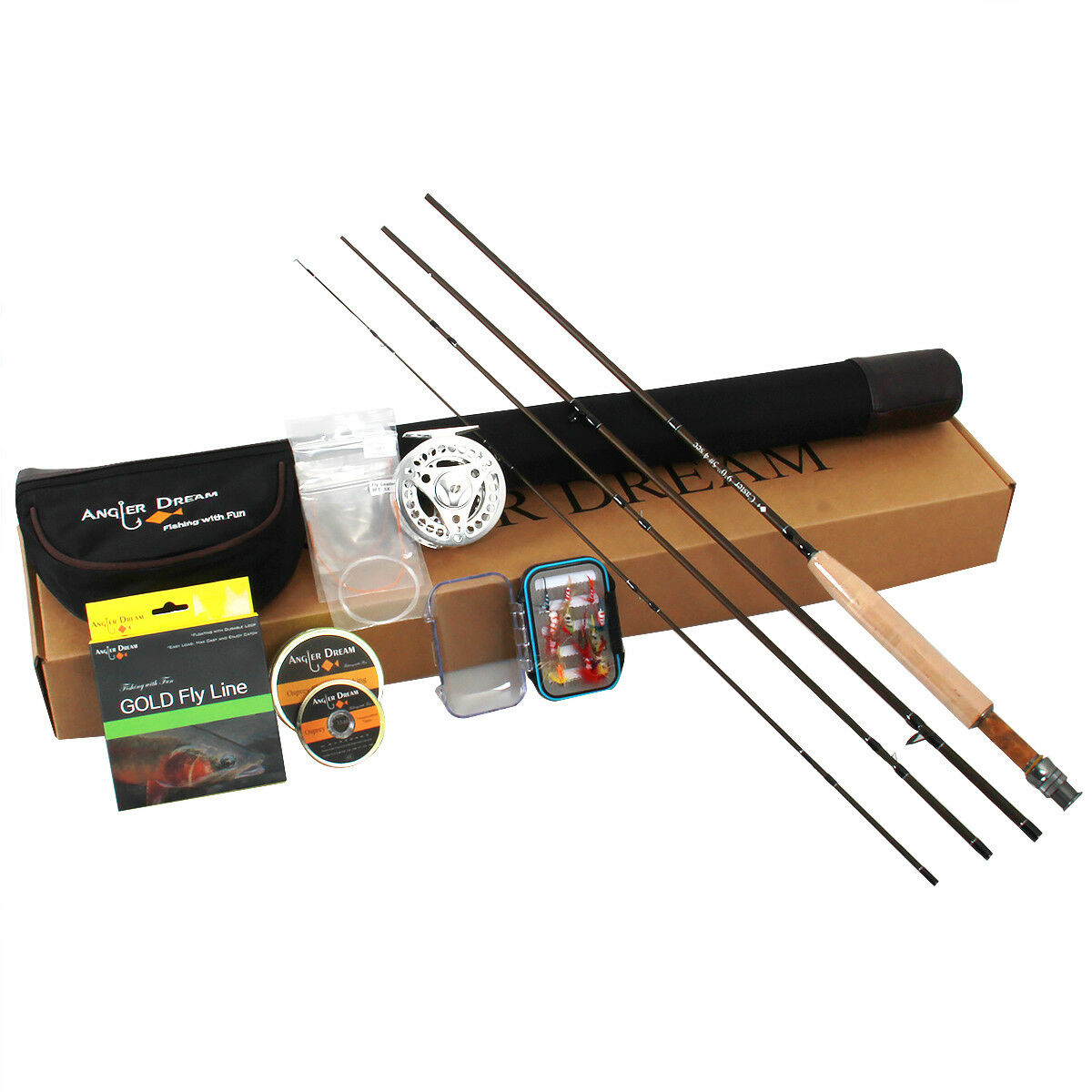 3 5 8WT Fly Fishing Rod Combo Carbon Fiber Fly Rod with CNC Large Arbor Reel