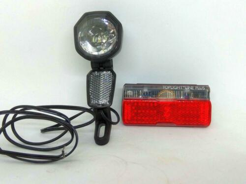 Spanninga Kendo Front Light With Busch /& Muller Toplight Line Plus Rear Light