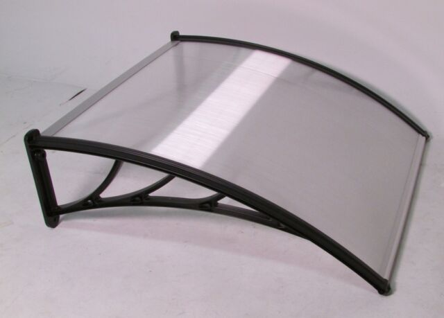 NEW PC AWNING FOR WINDOWS & DOORS 40x36 POLYCARBONATE (CLEAR HOLLOW SHEET)BLACK