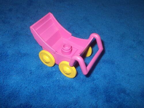 LEGO DUPLO PUPPENHAUS KINDERWAGEN SPIELPLATZ Rosa Pink für Babys Kinder