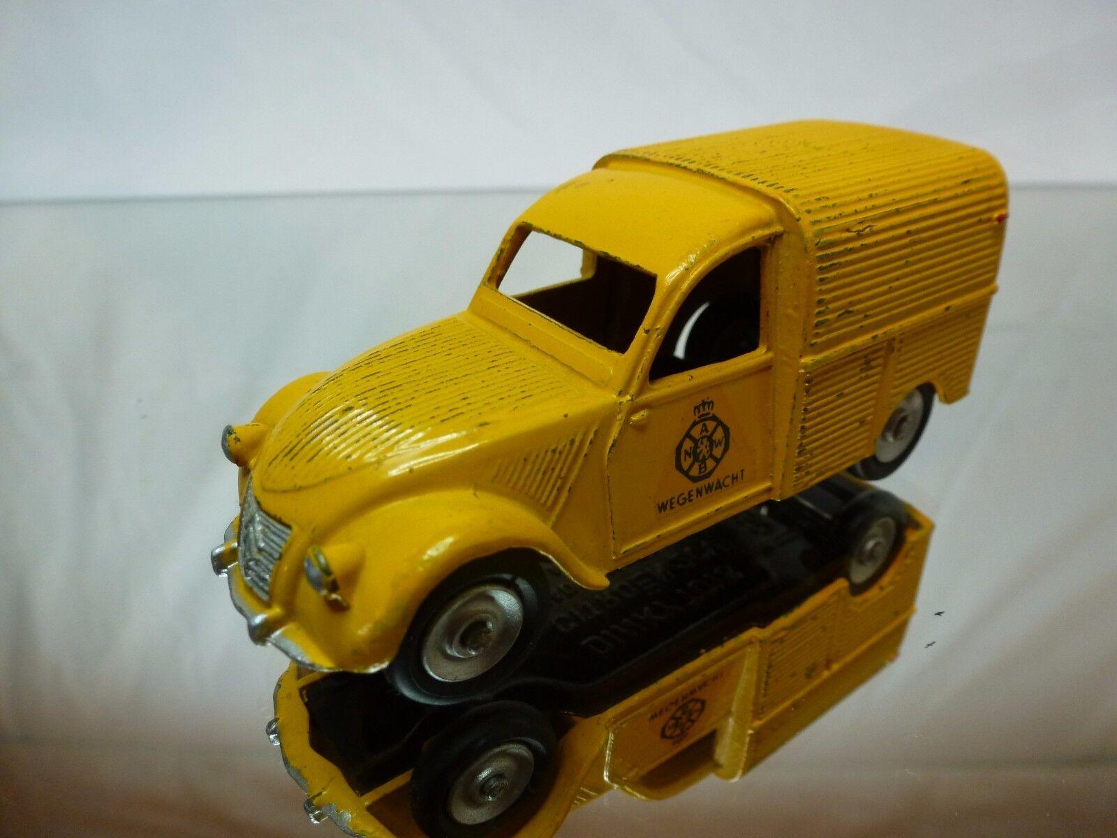 DINKY TOYS 25D CITROEN 2CV FOURGONNETTE ANWB - jaune 1  43 - GOOD CONDITION  meilleur service