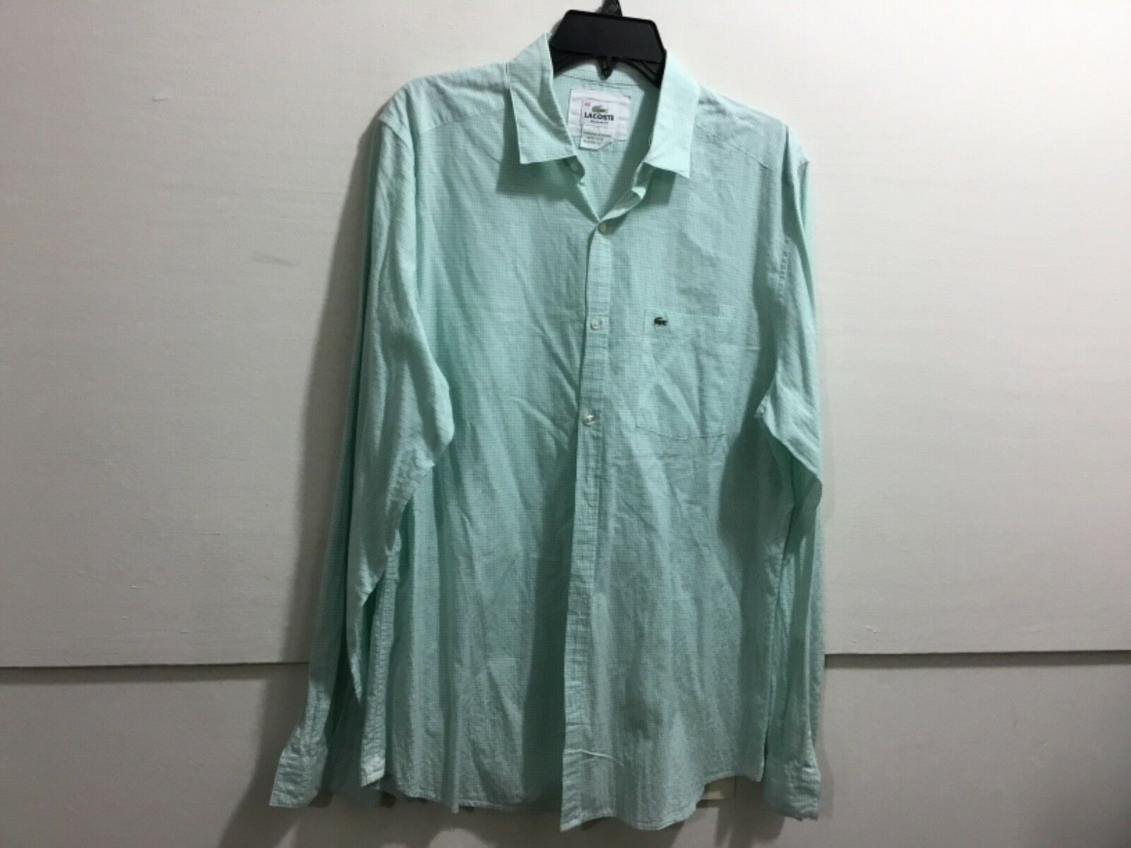 899a2623 Lacoste 40 M button down long sleeve shirt size Men's nnanyk1067-Casual  Button-Down Shirts