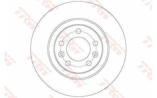 TRW Juego de 2 discos freno Trasero 290mm ventilado PEUGEOT 508 DF6134