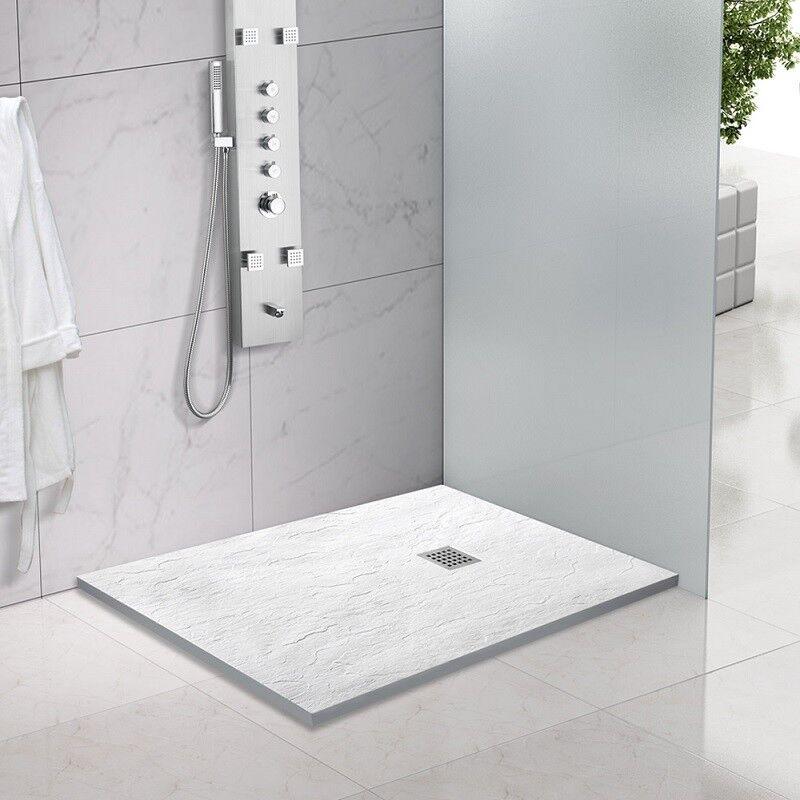 Piatto doccia in marmoresina quadrato, rettangolare, effetto ARDESIA