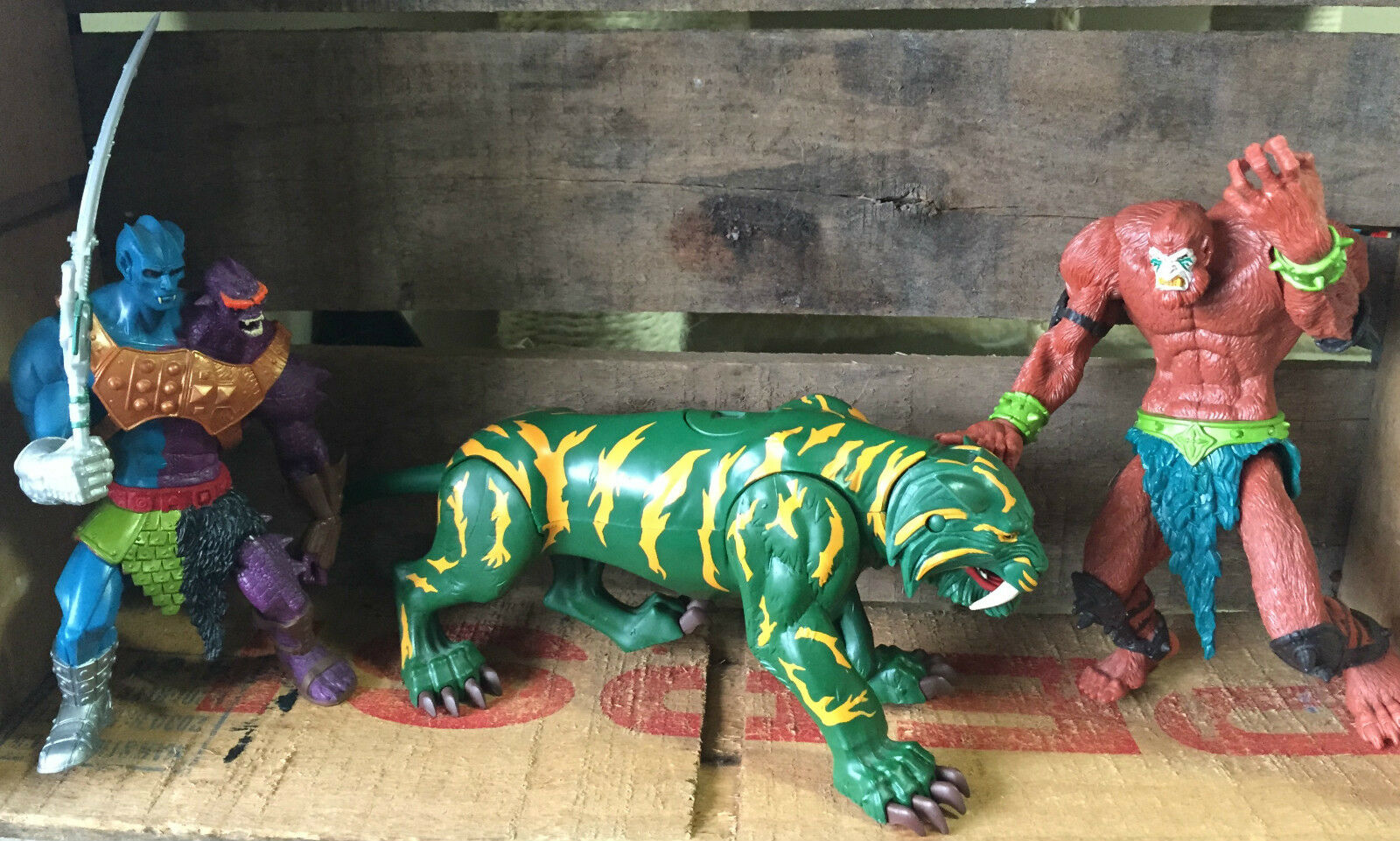200x 200x 200x He-Man Masters of the Universe Two-Bad, Beast Man, Battle Cat MOTU Figures cdf754