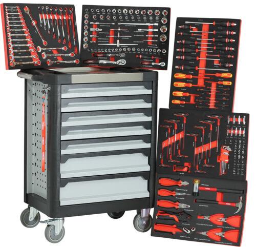 Chariot d/'atelier Ultra Edition Black Red avec 7 tiroirs//5 rempli