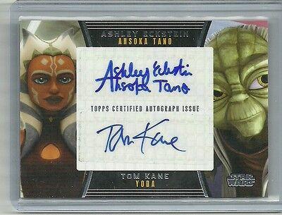Topps Star Wars Galactic Files Series 2 Eckstein & Kane Dual Auto Autograph Card