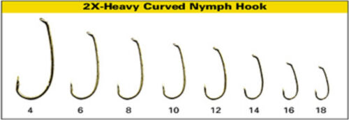 DAIICHI 1760 2x Long Curved Nymph Hook fly tying hooks