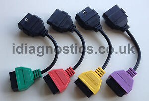 Fiat-Alfa-Lancia-CAN-Airbag-ABS-Elec-Hood-Steering-Leads-Adapters-Multiecuscan