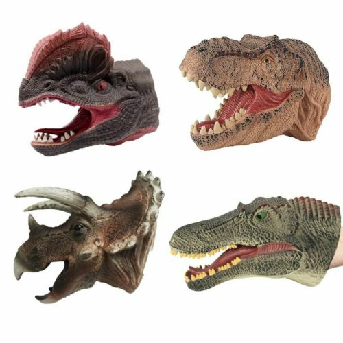 Halloween Dinosaurs Moving Mouth Hand Glove Puppet Play Kids Toys Gift Christmas