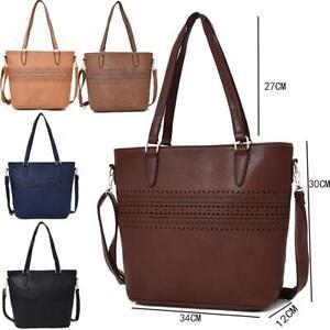 Women-039-s-Designer-Style-Shoulder-Bag-Ladies-Fashionable-Tote-Handbag