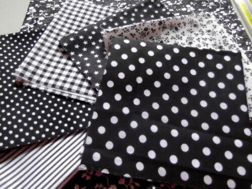 7 pezzi 25x25cm Cotone Stampato Tessuto Assortiti Pre-tagliati Cucito Creativi