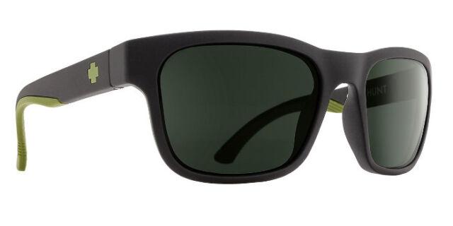 78100e987fa8d Spy Optics Hunt Matte Black Olive   Happy Gray Green 673469713864 Sunglasses