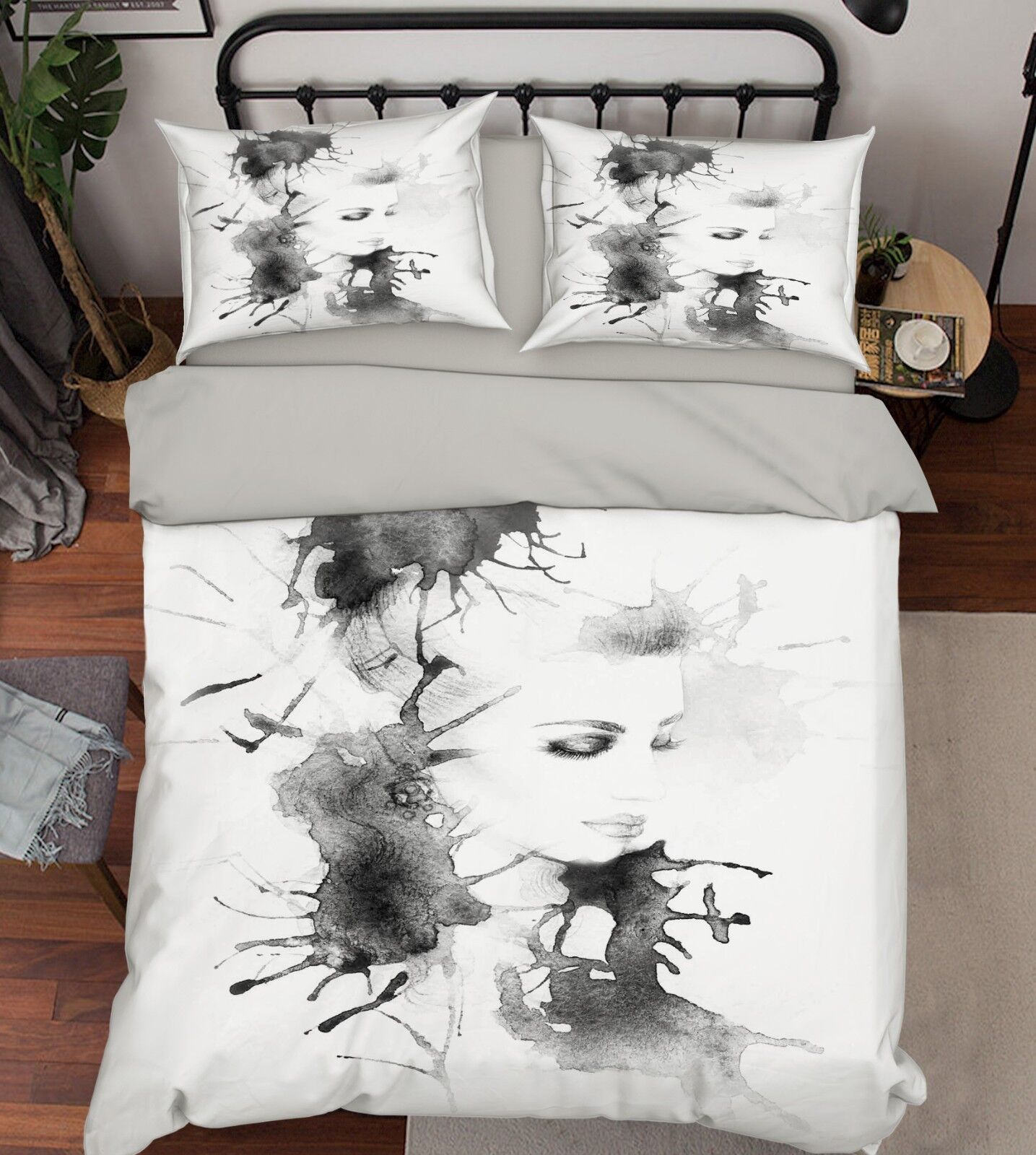 3D Ink Girl Art 656 Bed Pillowcases Quilt Duvet Cover Set Single King UK Summer