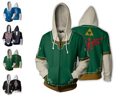 The Legend of Zelda Triforce Logo Link Hooded Sweater Cosplay Costume Jacket