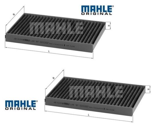 BMW E60 E61 5 Series Pollen//Microfilter Carbon set of 2 MAHLE oe 643191718588