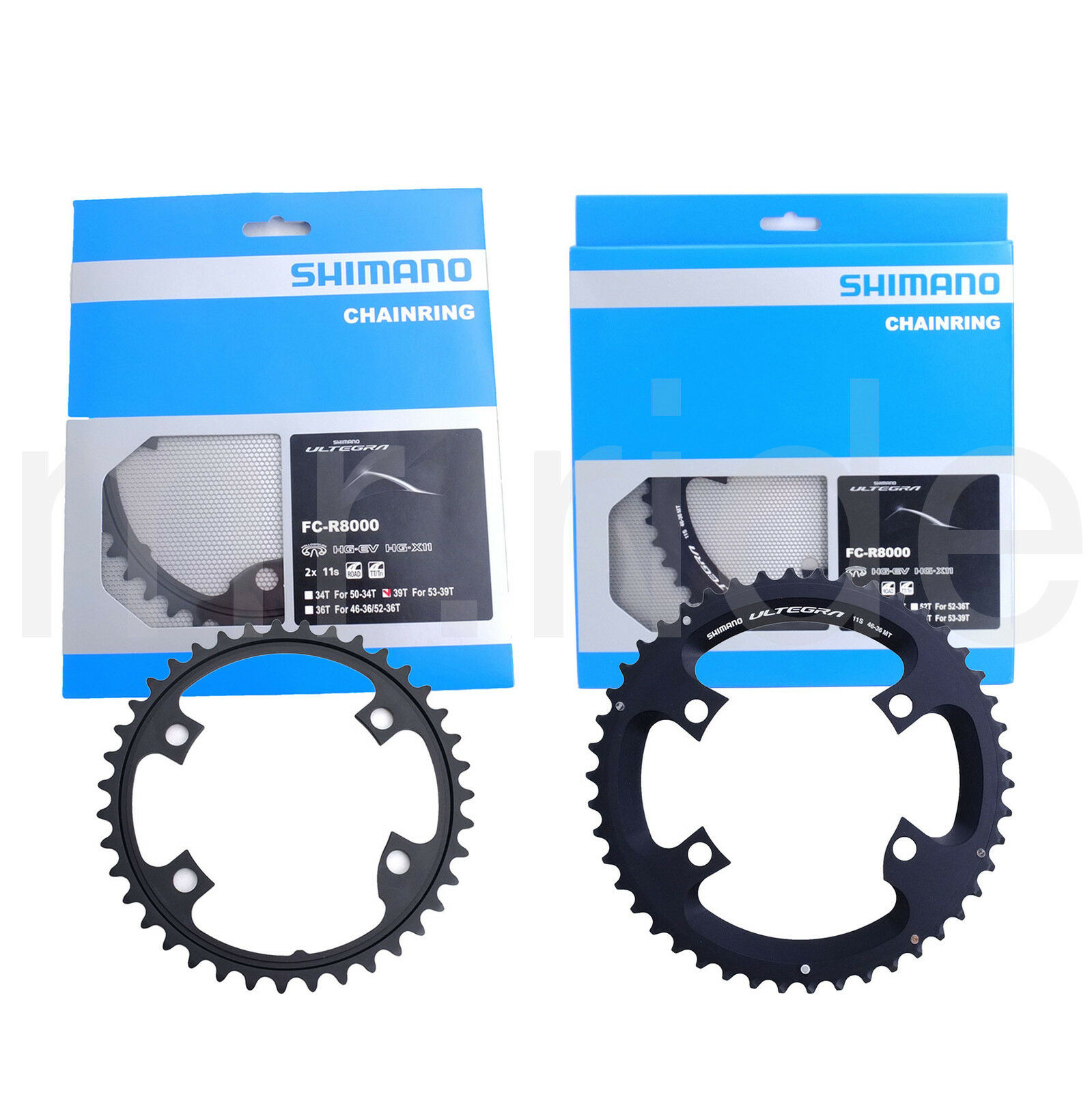Shimano Ultegra FC-R8000 110mm BCD 4 Arm Chainrings - 53T + 39T Road Bike