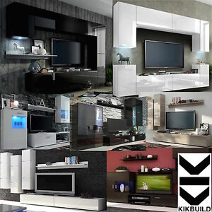 Living-Room-Furniture-Set-TV-Unit-Cupboard-Display-Stand-Shelves-select-design