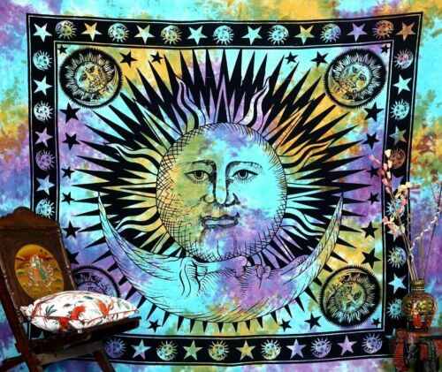 Indian Hippie Bohemian Psychedelic Mandala Wall Hanging Bedding Tapestry Cotto