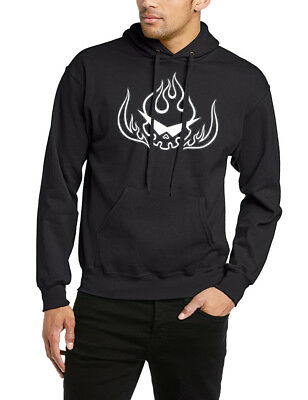 Skull Hoodie DJ Music Goth Metal Cool Punisher Rock Graphic Gift Hooded Hoody