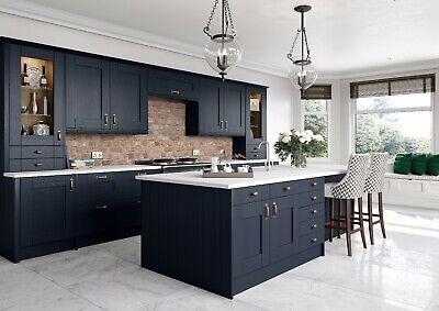 New Dark Blue Shaker Replacement Kitchen Doors Not Grey Graphite White Cream Ebay