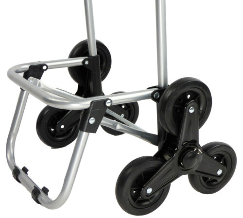 Dolly Climbing Stair Trolley Cart Foldable Storage Grocery Cart With Tri-Wheel
