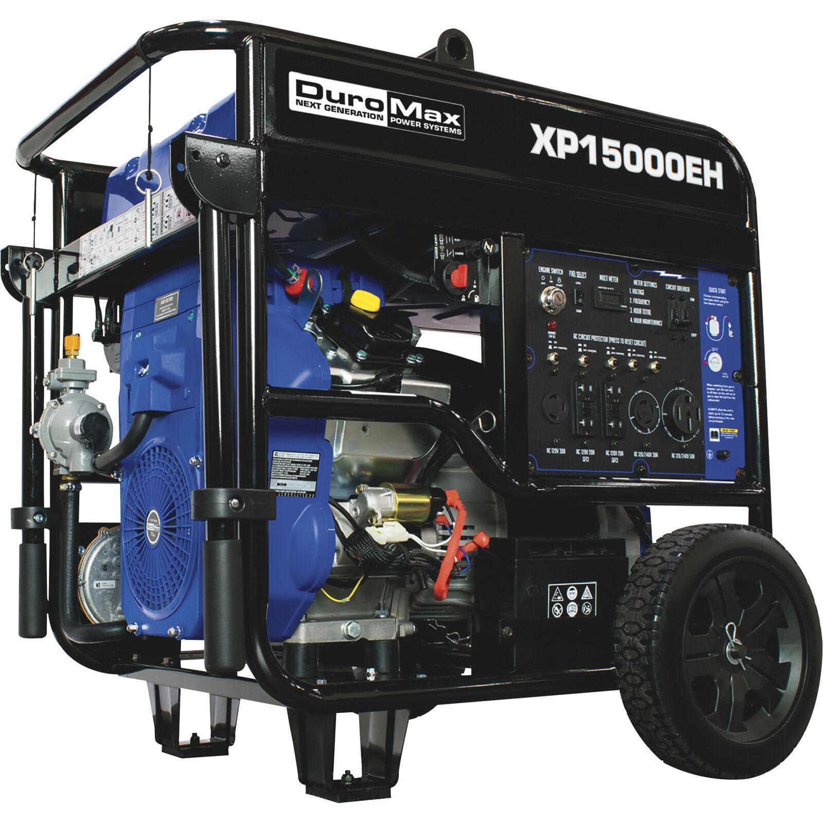 DuroMax XP15000E Portable Generator Blue//Black