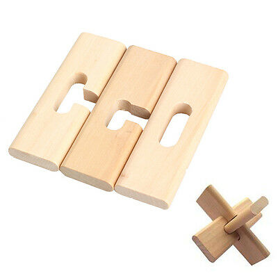 Chinese Traditional Wooden Interlocked Intelligent Puzzle Lock Adult Kids Toys