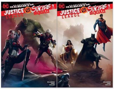 Justice League vs Suicide Squad Connecting Variant Color Set Francesco Mattina