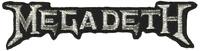 Application Megadeth Silver Logo Patch Novelty,