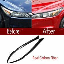 Real Carbon Fiber Headlight Eyelids Eyebrow Cover Kit For Honda Accord 1998-2002