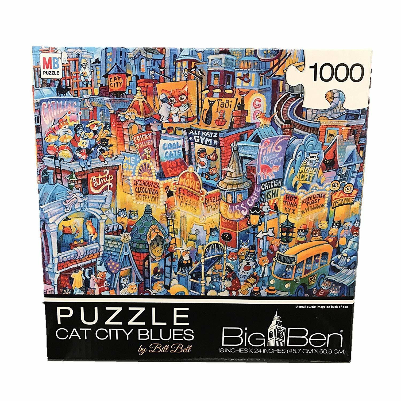 sconto online autodinal autodinal autodinal     gree Ben Cat città blus     BY BILL BELL Jigsaw Puzzle 1000 Pieces  offerta speciale