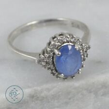 Sterling Silver   Crystal Cluster Blue Topaz 2g   Ring (5.75) MV7393