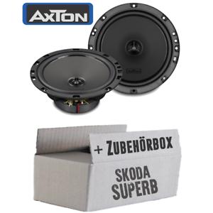 Axton-Lautsprecher-fuer-Skoda-Superb-Boxen-Koax-Auto-Einbauzubehoer-set-Front-Tuer