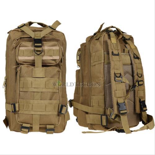 Outdoor Military Shoulder Tactical Backpack Rucksacks Travel Hiking Trekking Bag